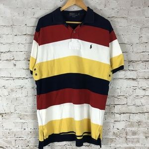 Vintage Polo Ralph Lauren Colorblock Polo Shirt XL